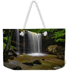Weekender Tote Bag featuring the photograph Cucumber Falls by Ronald Santini