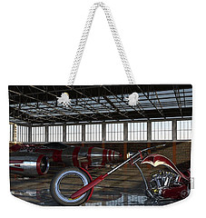 Weekender Tote Bag featuring the photograph Custom Chopper  by Louis Ferreira