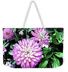 Dahlia Weekender Tote Bag by Cesar Vieira