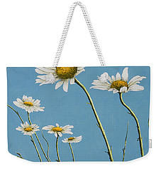 Daisies In The Wind Weekender Tote Bag