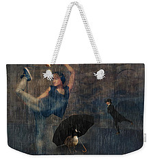 Dancing In The Rain Weekender Tote Bag