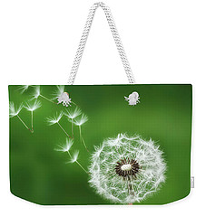 Weekender Tote Bag featuring the photograph Dandelion by Bess Hamiti