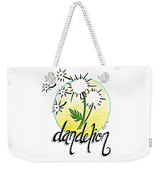 Weekender Tote Bag featuring the drawing Dandelion by Cindy Garber Iverson
