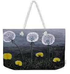 Dandelion Family Weekender Tote Bag by Judy Kirouac