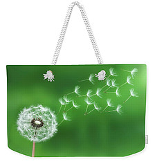 Weekender Tote Bag featuring the photograph Dandelion Seeds by Bess Hamiti