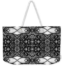 Weekender Tote Bag featuring the drawing Dark Symetry by Jack Dillhunt