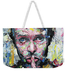 Weekender Tote Bag featuring the painting David Bowie by Richard Day