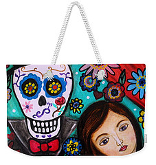 Weekender Tote Bag featuring the painting Day Of The Dead by Pristine Cartera Turkus