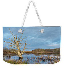Dead Tree In Marsh Weekender Tote Bag