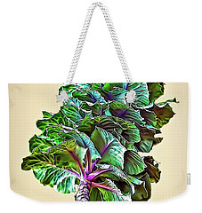 Weekender Tote Bag featuring the photograph Decorative Cabbage by Walt Foegelle