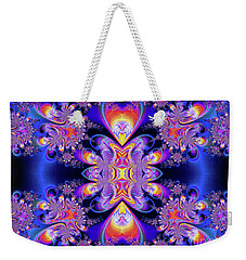Weekender Tote Bag featuring the digital art Deep Heart by Ian Mitchell