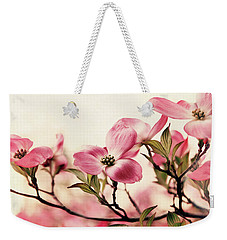 Weekender Tote Bag featuring the photograph Delicate Dogwood by Jessica Jenney