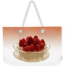 Delicious Raspberries Weekender Tote Bag by David French