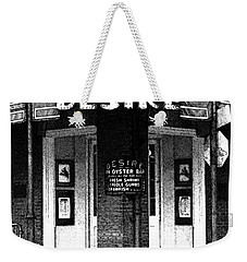 Desire Corner Bourbon Street French Quarter New Orleans Black And White Fresco Digital Art Weekender Tote Bag