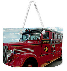 Detroit Fire Truck Weekender Tote Bag