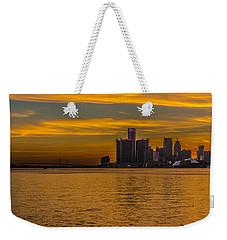 Detroit Sunset Weekender Tote Bag