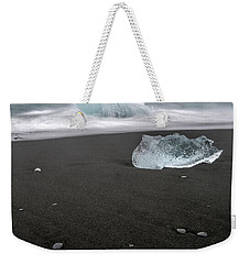 Weekender Tote Bag featuring the photograph Diamonds Floating In Beaches, Iceland by Pradeep Raja PRINTS
