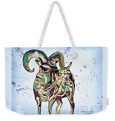 Digital Bighorn Ram Weekender Tote Bag