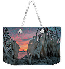 Distant Lighthouse Weekender Tote Bag