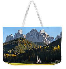 Dolomites Mountain Church Weekender Tote Bag