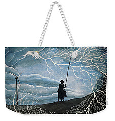 Weekender Tote Bag featuring the painting Don Quijote by Edwin Alverio