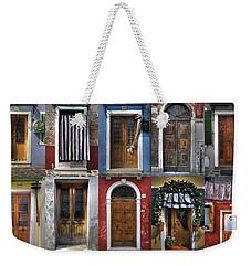 doors and windows of Burano - Venice Weekender Tote Bag