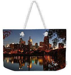 Downtown Minneapolis At Night Weekender Tote Bag