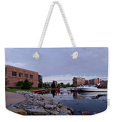 Weekender Tote Bag featuring the photograph Downtown Neenah by Joel Witmeyer