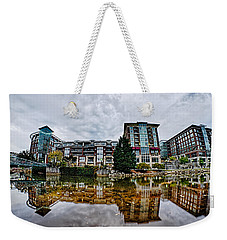 Downtown Of Greenville South Carolina Around Falls Park Weekender Tote Bag by Alex Grichenko