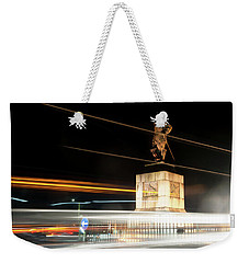 Drake's Statue Traffic Trails Iv Weekender Tote Bag