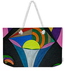 Weekender Tote Bag featuring the painting Dream 313 by S S-ray