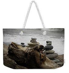 Driftwood Cairns Weekender Tote Bag