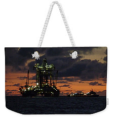 Drill Rig At Dusk Weekender Tote Bag