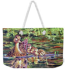 Duck Family Weekender Tote Bag