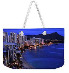 Dusk On Waikiki Weekender Tote Bag by James Kirkikis