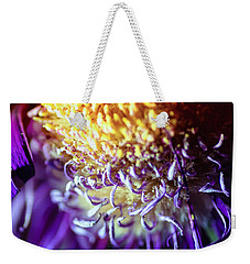 Dying Purple Chrysanthemum Flower Background Weekender Tote Bag