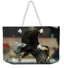 Weekender Tote Bag featuring the photograph Eagle Flight by Coby Cooper