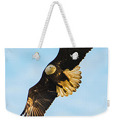 Eagle Stare Down Weekender Tote Bag by Jeff at JSJ Photography