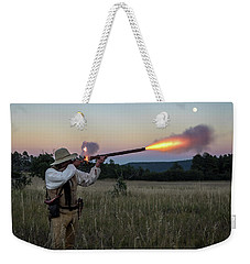 Early 1800's Flintlock Muzzleloader Blast Weekender Tote Bag by Nadja Rider