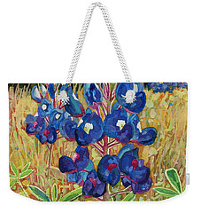 Weekender Tote Bag featuring the painting Early Bloomers by Hailey E Herrera