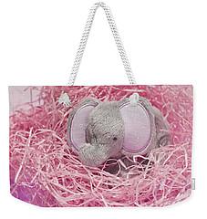 Elephant For Charity Pink Weekender Tote Bag by Terri Waters
