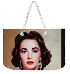 Elizabeth Taylor Hollywood Actress Weekender Tote Bag by Mary Bassett