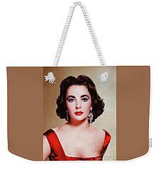 Elizabeth Taylor Hollywood Actress Weekender Tote Bag