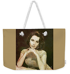 Elizabeth Taylor, Vintage Hollywood Legend By Mary Bassett Weekender Tote Bag