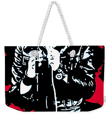 Elvis Weekender Tote Bag by Luis Ludzska