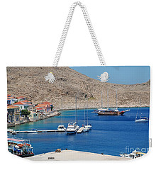 Emborio Harbour On Halki Weekender Tote Bag