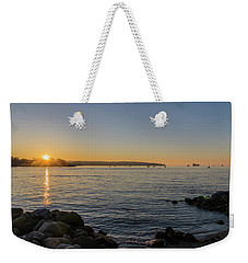 English Bay Sunset Weekender Tote Bag