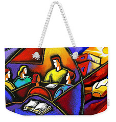Weekender Tote Bag featuring the painting Enterprise by Leon Zernitsky