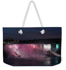 Evening At Niagara Falls, New York View Weekender Tote Bag by Brenda Jacobs