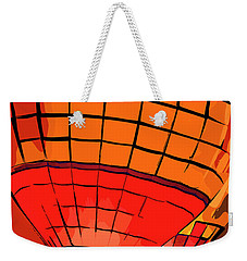 Evening Glow Red And Yellow In Abstract Weekender Tote Bag